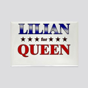 LILIAN for queen Rectangle Magnet