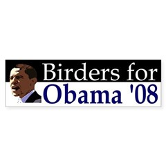 Birders for Obama '08 Bumper Bumper Sticker