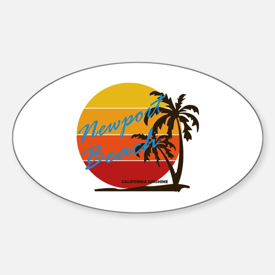 Cool Newport beach Sticker (Oval)