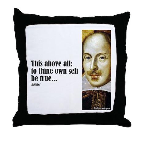 "Shakes ""Be True"" Throw Pillow"