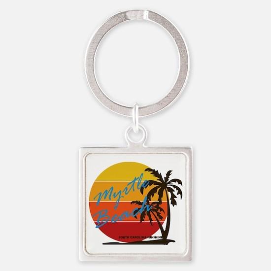 Cute Myrtle beach Square Keychain
