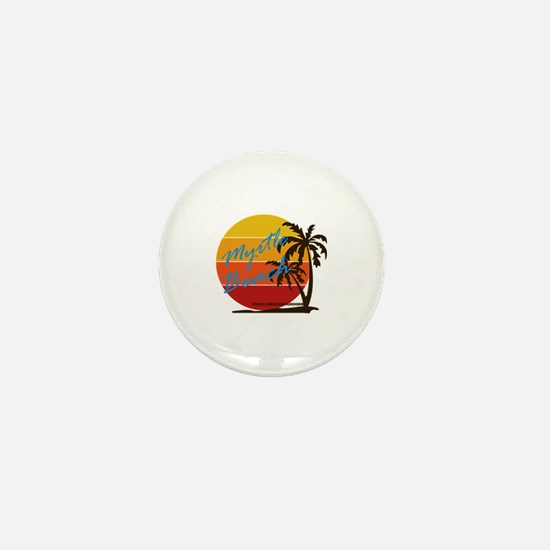 Cute Myrtle beach souvenirs happy place Mini Button
