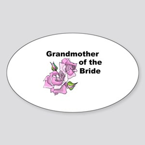 Grandmother of the Bride Oval Sticker