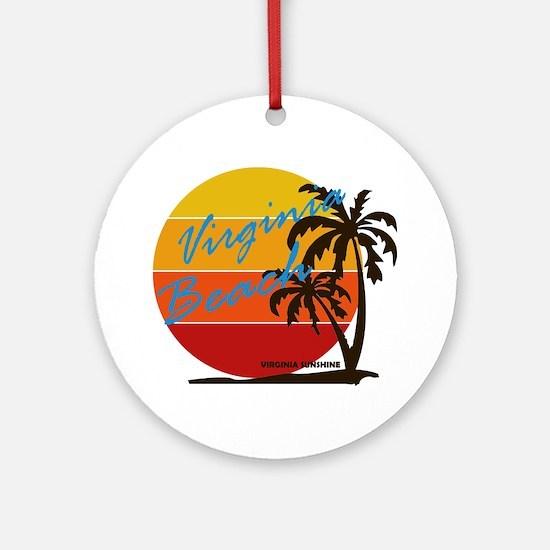 Cute Coastline Round Ornament