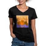 HOTROD STYLE Women's V-Neck Dark T-Shirt