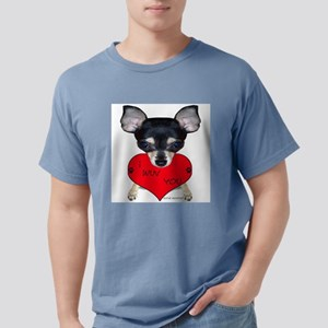 Chihuahua Valentine Ash Grey T-Shirt