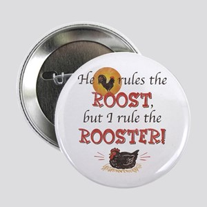 """Rules The Rooster 2.25"""" Button"""