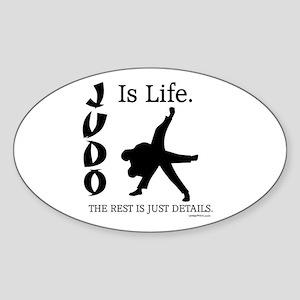 JUDO Is Life. Oval Sticker