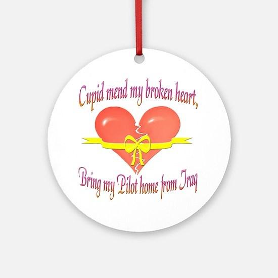 Broken Heart Pilot Ornament (Round)