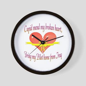 Broken Heart Pilot Wall Clock