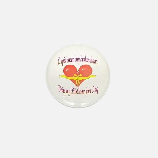 Broken Heart Pilot Mini Button