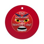 Angry Valentines Day Ornament (Round)