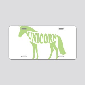 Dabbing Unicorn Aluminum License Plate