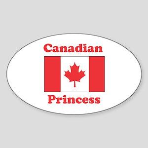 Canadian Princess Oval Sticker