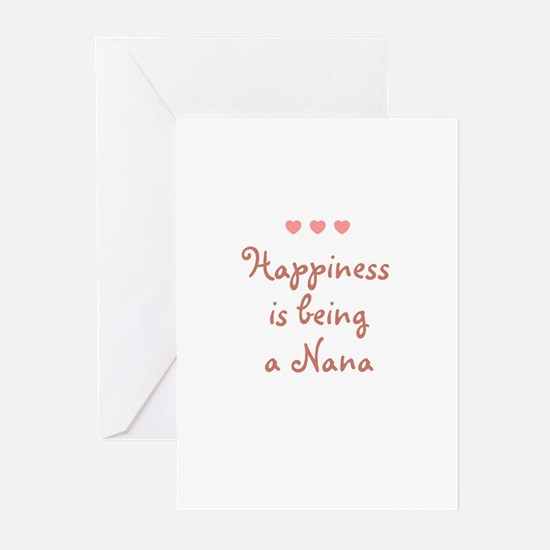 Happiness is being a Nana Greeting Cards (Pk of 10