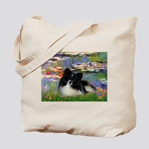 Lilies / Pomeranian (b&w) Tote Bag