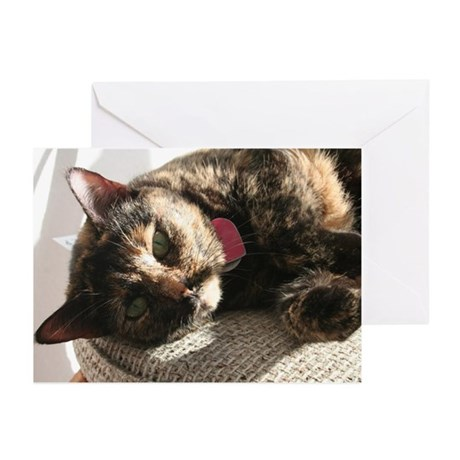 Green-eyed Kitty Greeting Cards (Pk of 20)