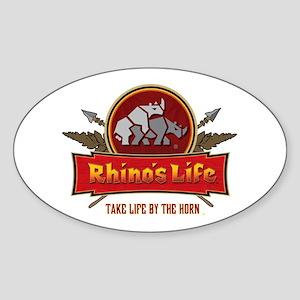 Rhino's Life Oval Sticker