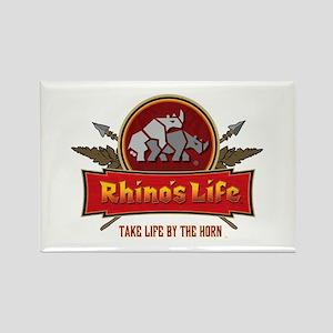 Rhino's Life Rectangle Magnet