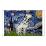 Starry Night / Dalmation Sticker (Rectangle)