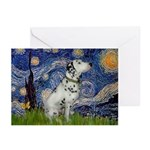 Starry Night / Dalmation Greeting Cards (Pk of 20)