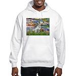 Lilies / Dalmation Hooded Sweatshirt