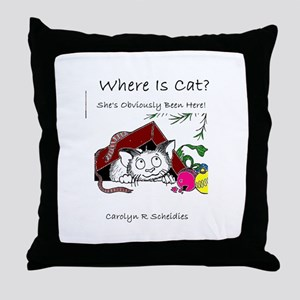 Where Is Cat? Throw Pillow