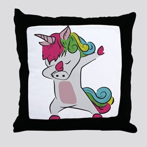 Dabbing Unicorn Throw Pillow
