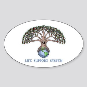 Life Support Oval Sticker