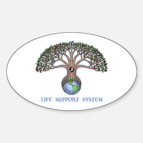 Life Support Oval Decal