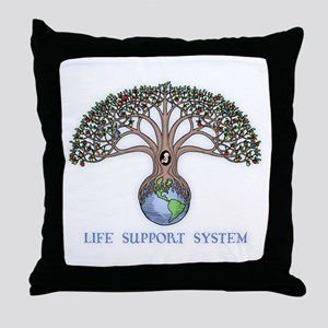 Life Support Throw Pillow