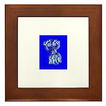 Funny Man Framed Tile (blue)