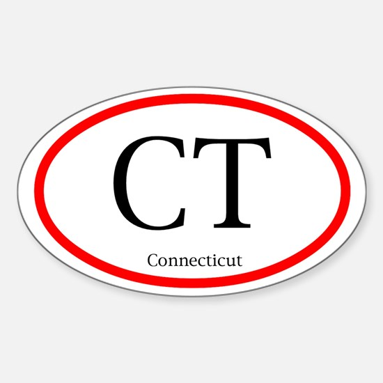 Connecticut Oval Decal (Sticker)