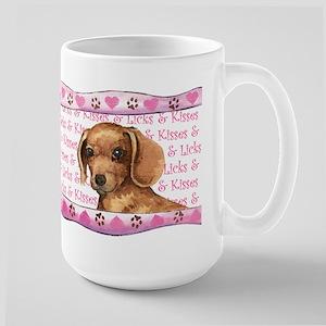 Dachshund Valentine Large Mug