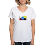 Humanbeingflag Women's V-Neck T-Shirt