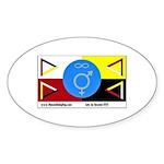 Humanbeingflag Oval Sticker