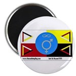 """Humanbeingflag 2.25"""" Magnet (10 pack)"""