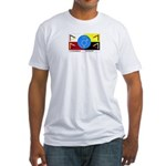 Humanbeingflag Fitted T-Shirt