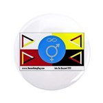 """Humanbeingflag 3.5"""" Button (100 pack)"""