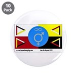 """Humanbeingflag 3.5"""" Button (10 pack)"""