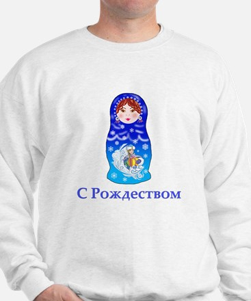 Russian Christmas Nesting Doll Sweatshirt
