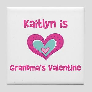 Kaitlyn is Grandma's Valentin Tile Coaster