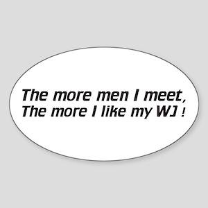 Men / I like my WJ - Euro Oval Sticker