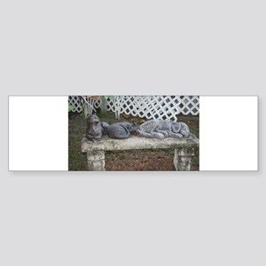 Stone Bench Bumper Sticker