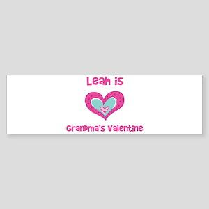 Leah is Grandma's Valentine Bumper Sticker