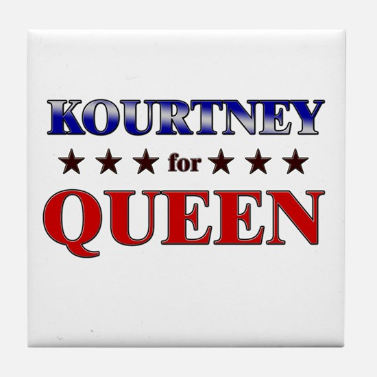 KOURTNEY for queen Tile Coaster