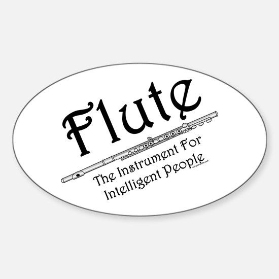Intelligent Flute Oval Decal