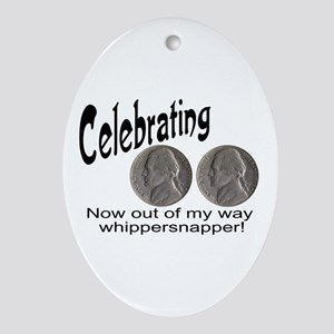 55 Birthday Whippersnapper Ornament (Oval)
