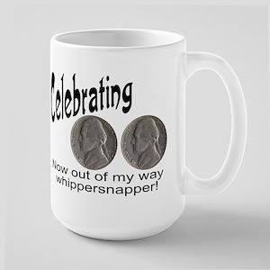 55 Birthday Whippersnapper Large Mug Mugs