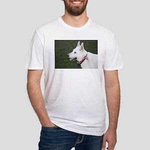 White German Shepherd Fitted T-Shirt